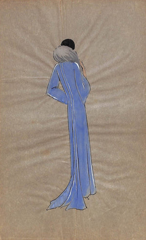 Parisian Women's c1920s Lanvin Fashion Gouache