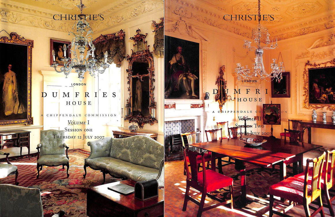 Dumfries House A Chippendale Commission Christie's London July 12-13 2007 Vols I & II