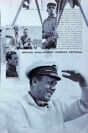 """The British Challenge Town & Country"" Magazine Sept. 1958"