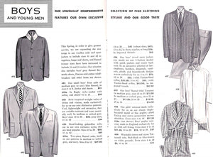 Brooks Brothers News for Spring 1955 in Men's and Boys' Clothing and Furnishings
