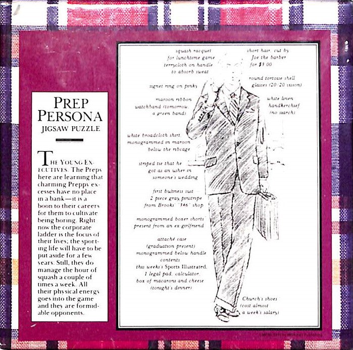 "The Official Preppy Prep Persona Jigsaw Puzzle New & Sealed! 100 Pieces 7.5""Sq"