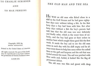 """The Old Man and The Sea"" 1952 by Ernest Hemingway"