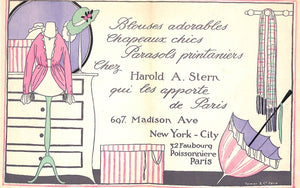 Harold A. Stern Ladies Fashion Card