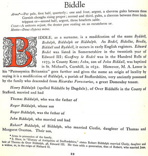 Duke and Biddle Family Histories-Genealogical and Biographical by Ruth Lawrence