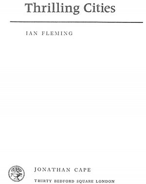 Thrilling Cities by Ian Fleming