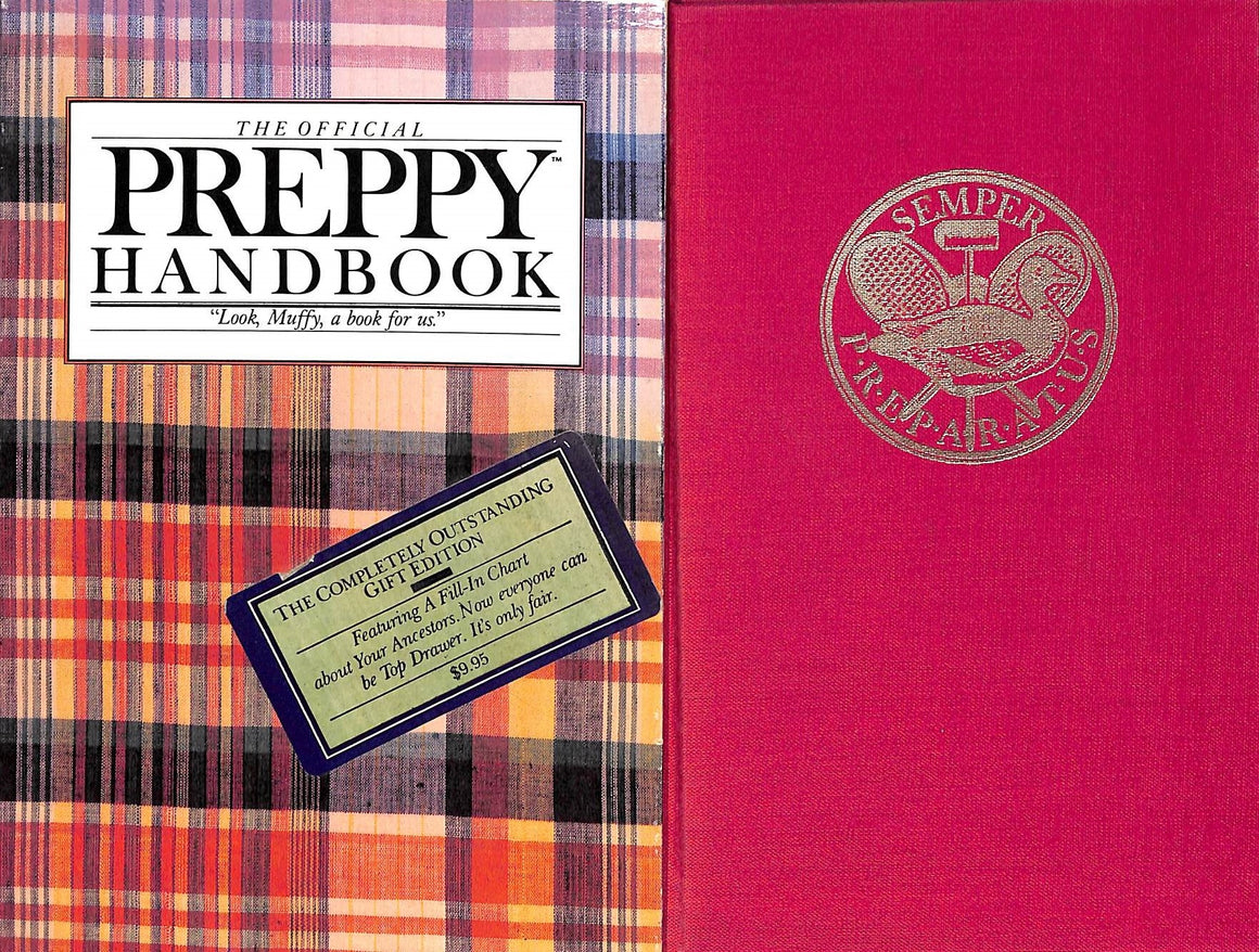 """The Official Preppy Handbook- The Completely Outstanding Gift Edition"" 1980 by Lisa Birnbach"