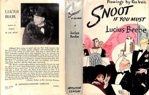 """Snoot If You Must"" 1943 by Lucius Beebe (Signed!)"
