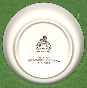 Set of 8 Abercrombie & Fitch Pickard China Sports Car Coasters