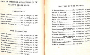 """Meadow Brook Club"" 1922 Members Book"