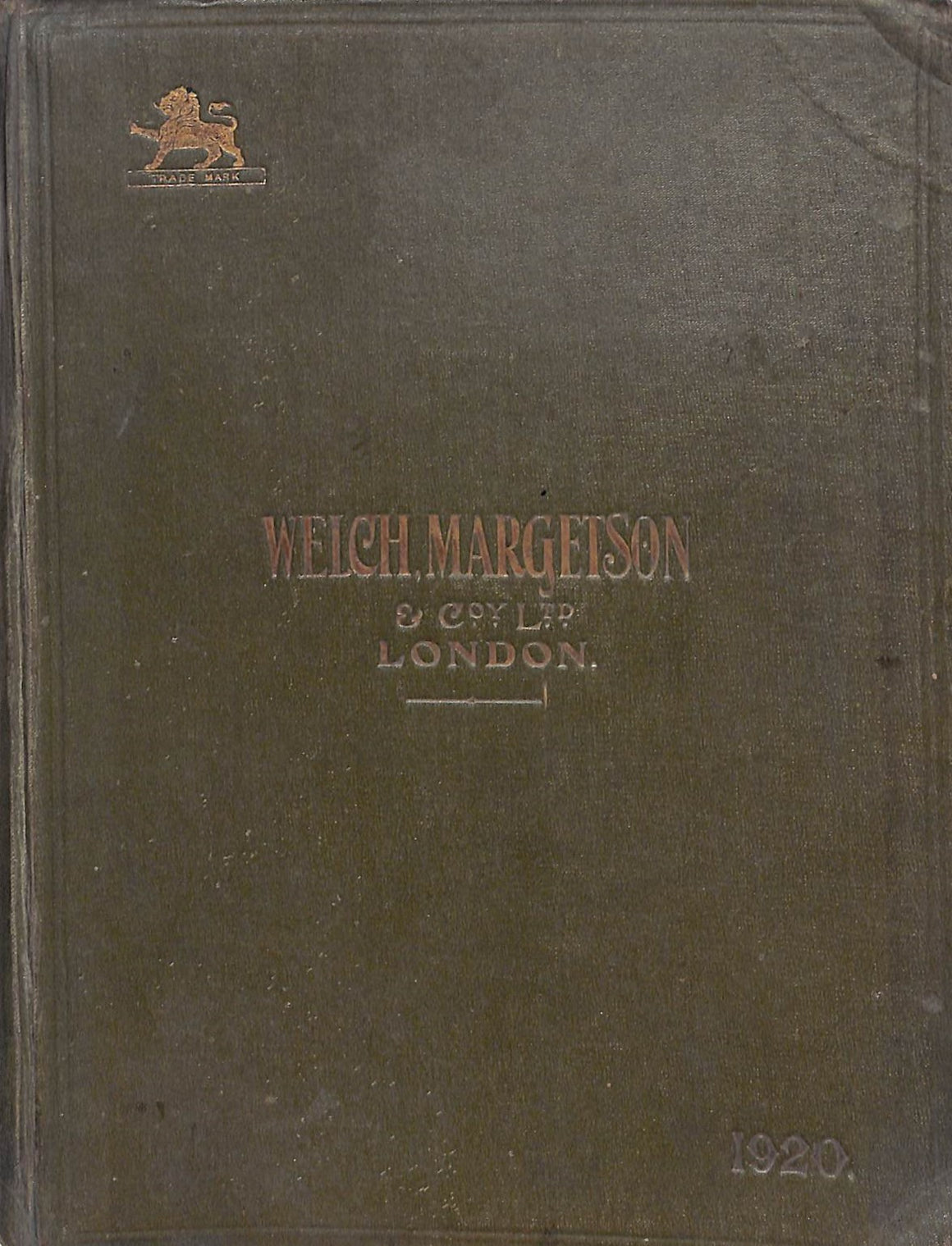 Welch, Margetson c1920 (206) pp Catalogue