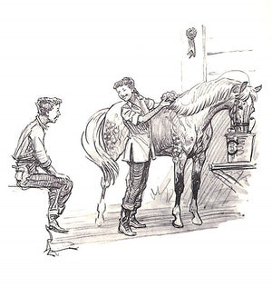 """Show Pony"" 1954 by Nancy Caffrey w/ Remarque Pencil Drawing & Illustrations by Paul Brown"