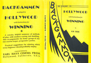 """Backgammon As Played In Hollywood w/ Instructions For Winning"" 2015"