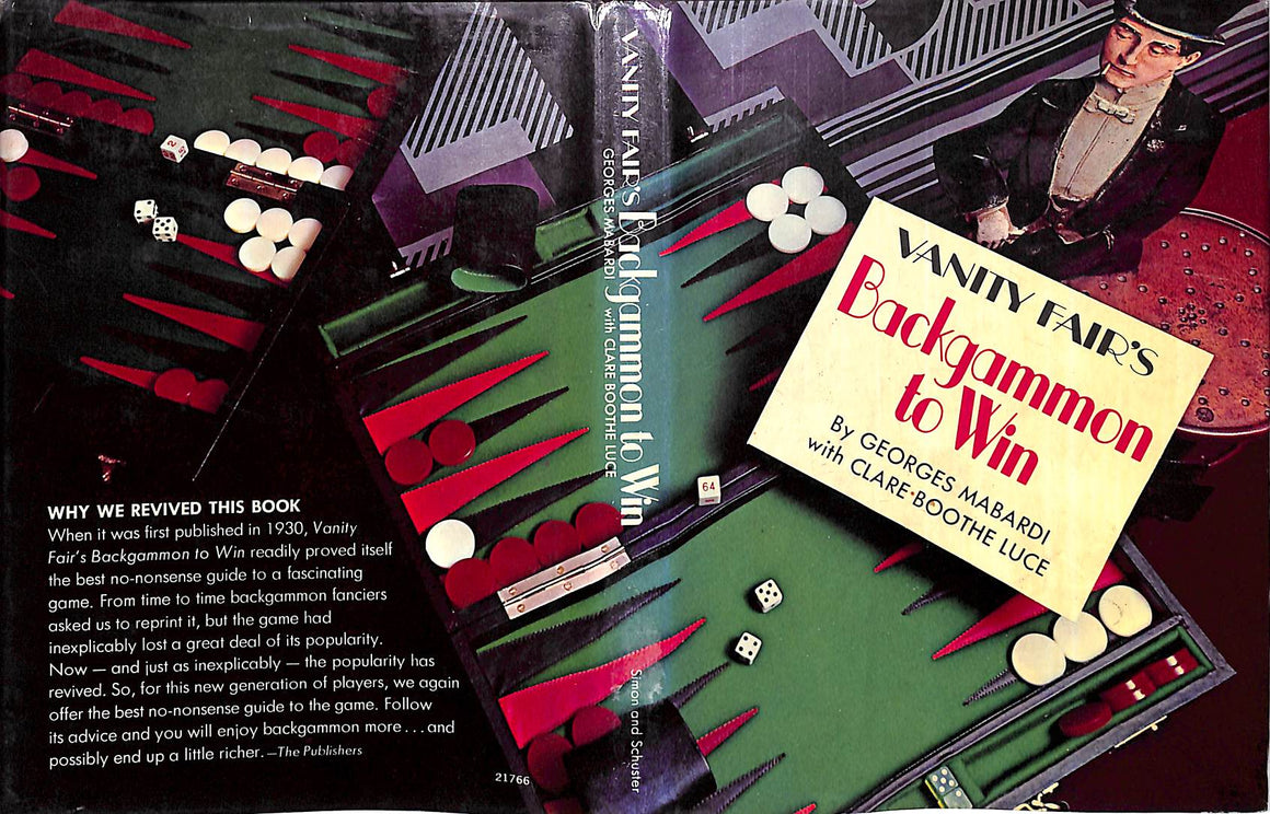 """Vanity Fair's Backgammon To Win"" 1974 by Georges Mabardi"