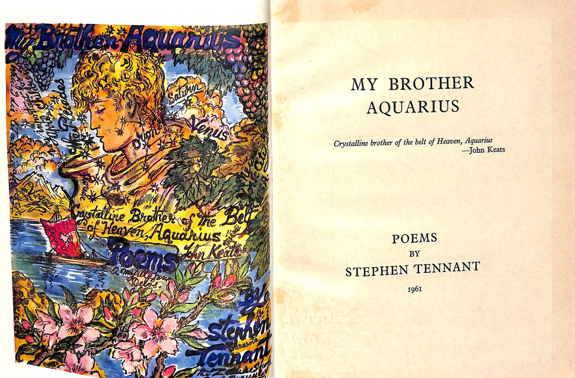"""My Brother Aquarius: Poems"" by TENNANT, Stephen 1961"
