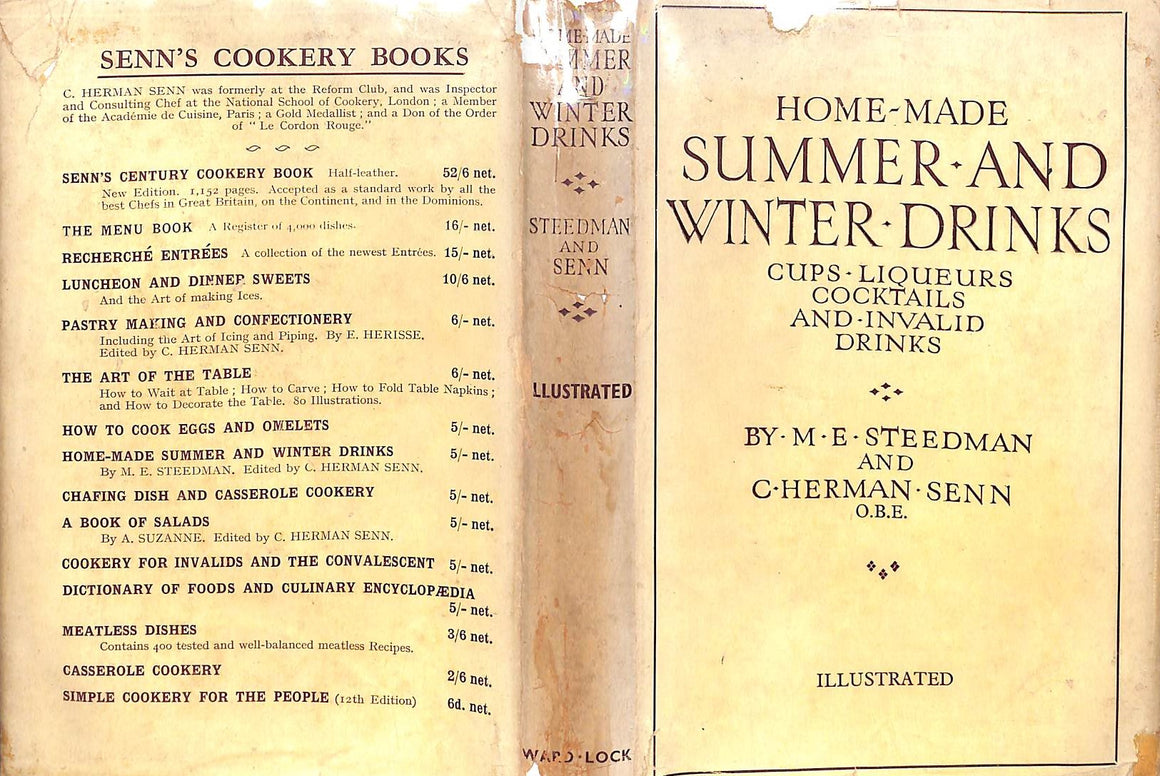 """Home-Made Summer And Winter Drinks"" by M.E. Steedma and C. Herman-Senn"