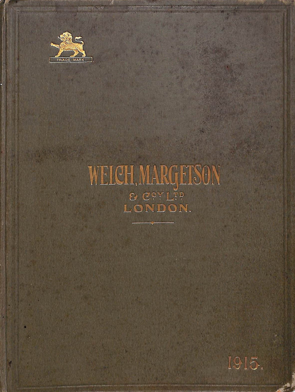 Welch, Margetson & Co Ltd London 1915