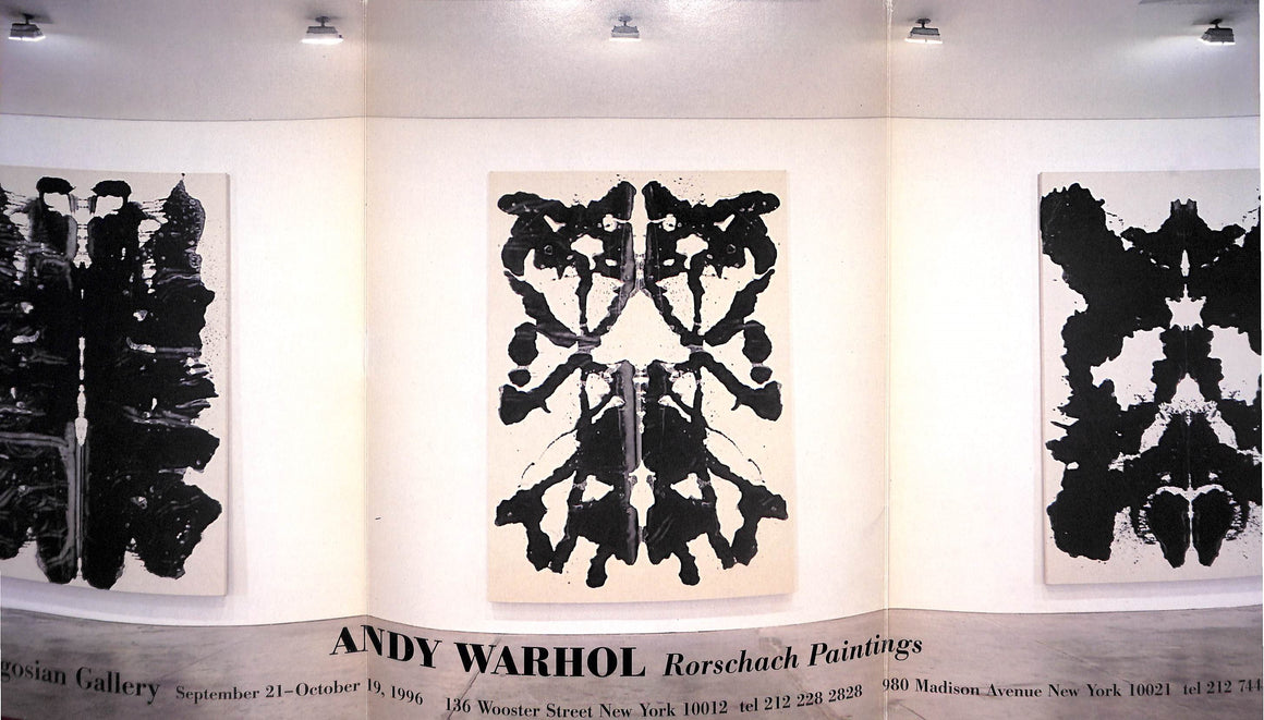 """Andy Warhol Rorschach Paintings"" 1996"