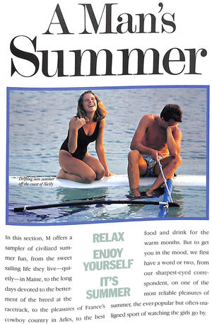 """M The Civilized Man: A Man's Summer"" July 1988"