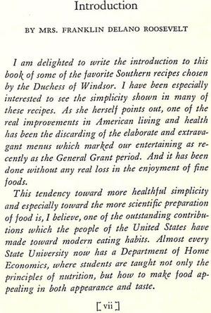 """Some Favorite Southern Recipes of The Duchess of Windsor"" by The Duchess of Windsor"