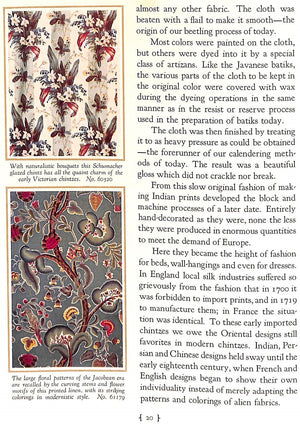 """The Development of Various Decorative and Upholstery Fabrics"""