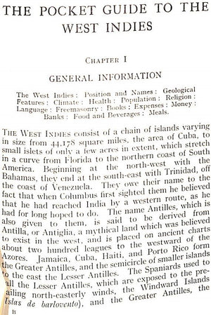 """The Pocket Guide To The West Indies"" ASPINALL, Sir Algernon"
