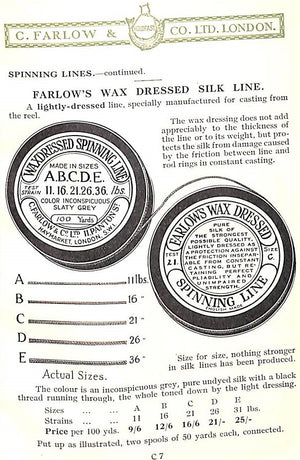 """C. Farlow & Co. Ltd. London: Fishing Tackle Manufacturers"""