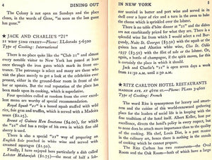 """Dining Out In New York and What To Order"" 1939 FOUGNER, G. Selmer"