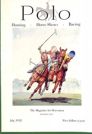 Polo Magazine July, 1932 w/ Paul Brown '31 Cover