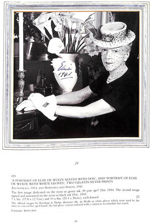 """Innovators of Twentieth Century Style Including The Elsie de Wolfe Foundation"" 1999 Christie's"