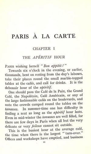"""Dining in Paris: A Guide to Paris a la Carte and Table d'Hote"" 1925 STORY, Sommerville"