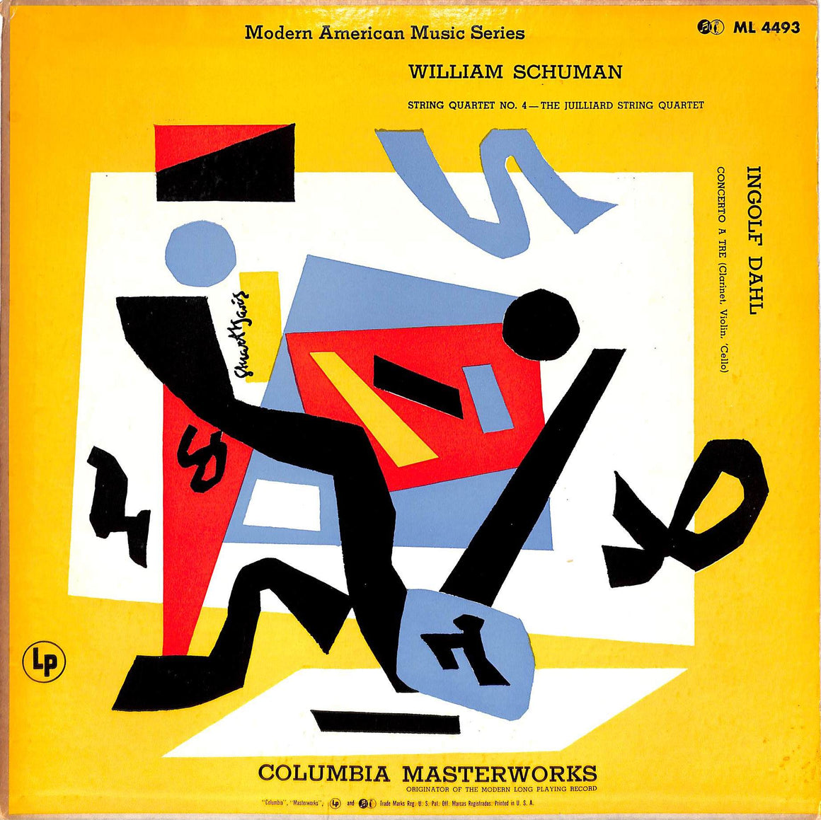 """Modern American Music Series LP William Schuman and Ingolf Dahl w/ Stuart Davis Artwork Cover"""