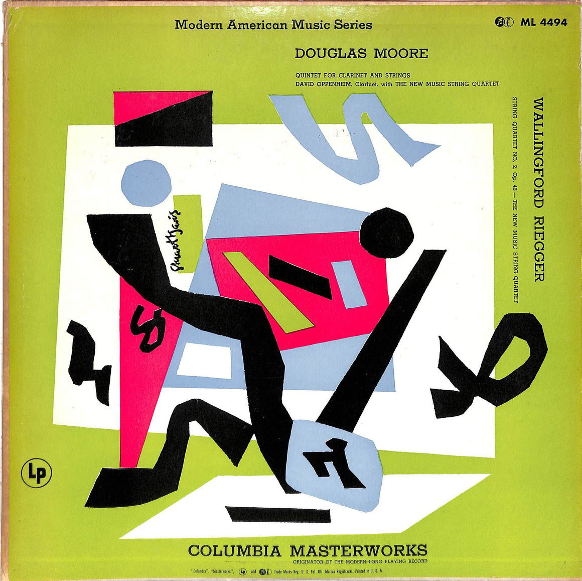 """Modern American Music Series LP Douglas Moore and Wallingford Riegger w/ Stuart David Artwork Cover"""