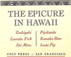 """The Epicure In Hawaii"""