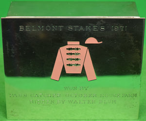 Tiffany & Co 1971 Belmont Stakes Sterling Silver Jockey Box