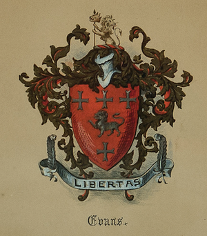 Evans Libertas Coat-of-Arms Watercolour
