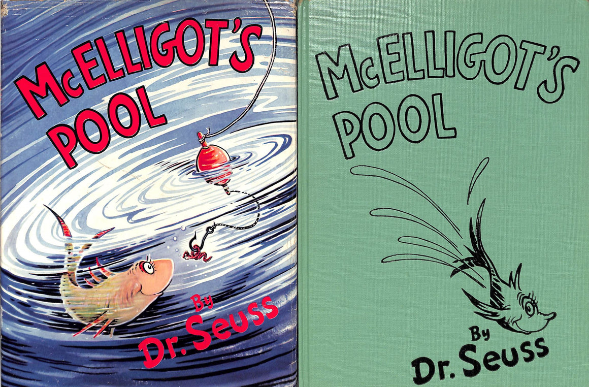 """McElligot's Pool"" Dr. Seuss 1st Edition/ 2nd 1958 Printing w/ VG+ DJ (SOLD)"