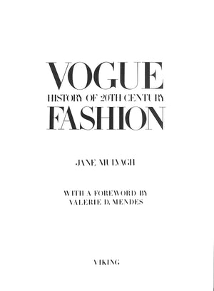"""Vogue Fashion"" Jane Mulvagh"