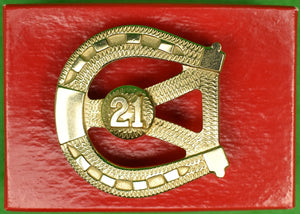 """21"" Club Brass Belt Buckle"