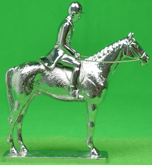 """Lejeune Chrome Plated Gentleman Fox-Hunter Car Mascot"" (New/ Old Stock!)"