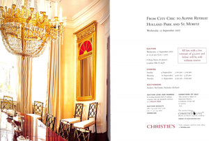"""From City Chic to Alpine Retreat: Holland Park and St. Moritz (Christie's Wednesday 12 September 2007)"""
