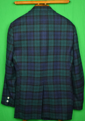 Abercrombie & Fitch 100% Cashmere Black Watch Tartan Sport Jacket Sz: 42R
