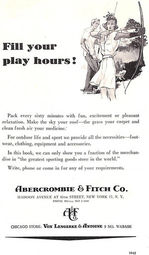 """Abercrombie & Fitch Play Hours 1945"""