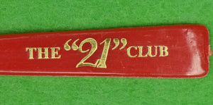 """21"" Club Red Cocktail Stirrer"