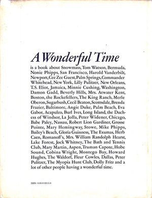 """A Wonderful Time: An Intimate Portrait of The Good Life"" AARONS, Slim"