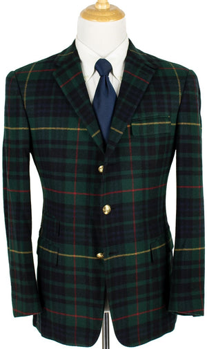 Ralph Lauren Purple Label Hunting Stewart Tartan Plaid Sport Coat Sz: 42R