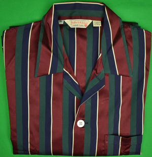 Bullock & Jones by Derek Rose Regimental Stripe PJ Set Sz: XL (Deadstock w/ Tag!) (SOLD)