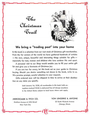 """The Christmas Trail: Abercrombie & Fitch 1938"""