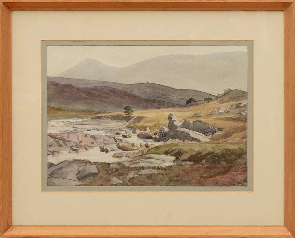 The Hills, Garve c1934 Watercolour by Cedric Kennedy