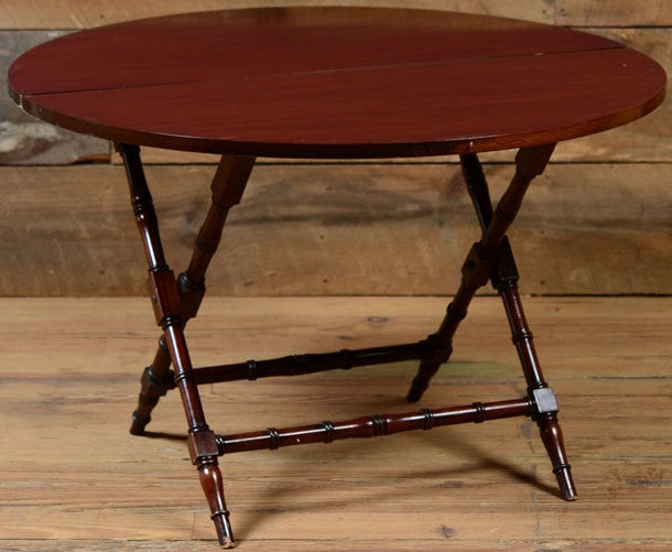 English Mahogany Folding Cricket Table