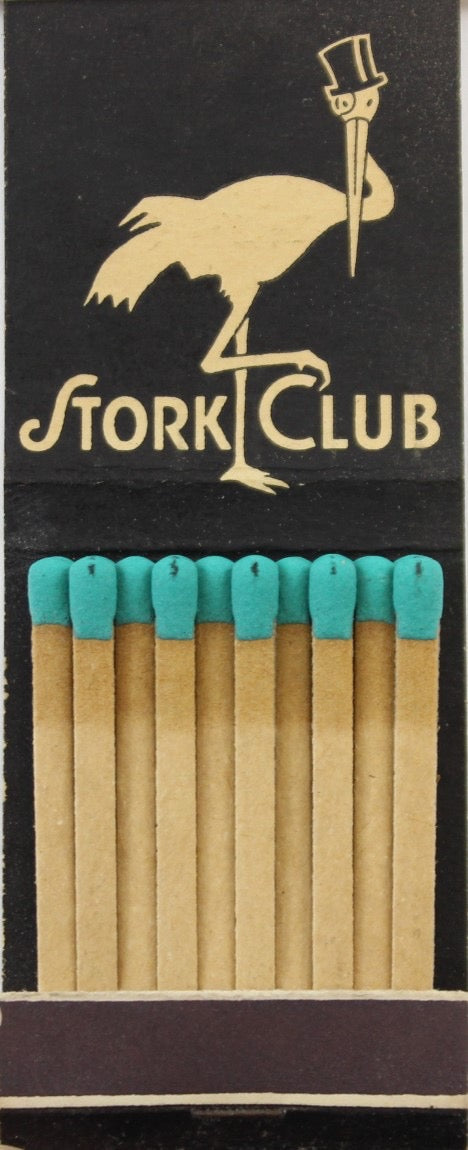 """The Stork Matchbook Club/ Chesterfield c1940s Matchbook"""